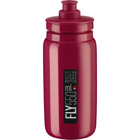 Elite Fly Butelka 550ml, amaranth/black logo